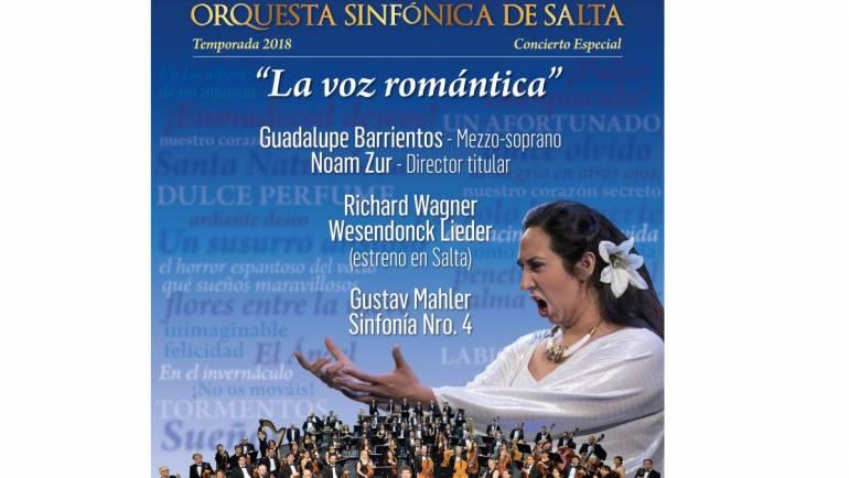 """""""La voz romántica"""" nuevo concierto de la Orquesta Sinfónica"""