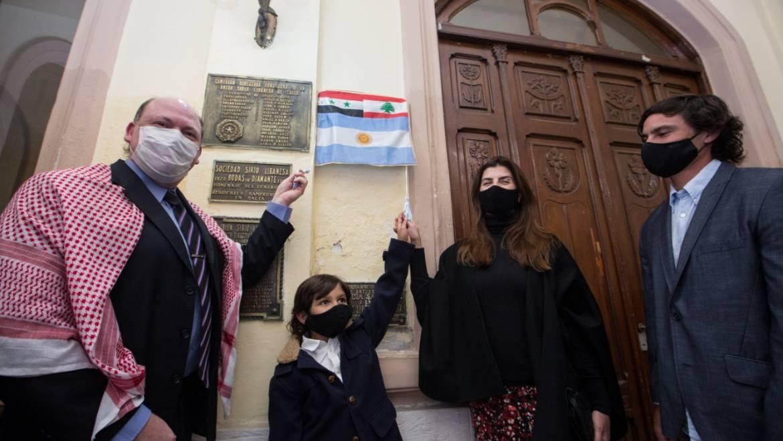 La intendenta acompañó la conmemoración del centenario de la Unión Sirio Libanesa