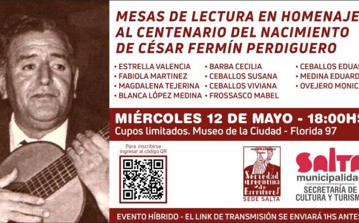Continúan las actividades para celebrar la figura del poeta César Fermín Perdiguero