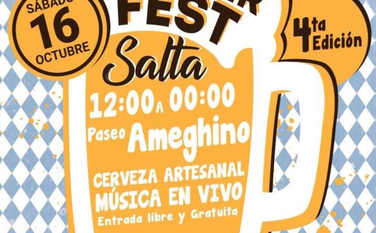 Este sábado se desarrollará la 4ta Edición del Oktoberfest Salta