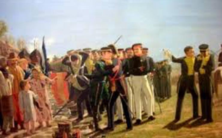 La Capitulación – El abrazo entre Belgrano y Tristan
