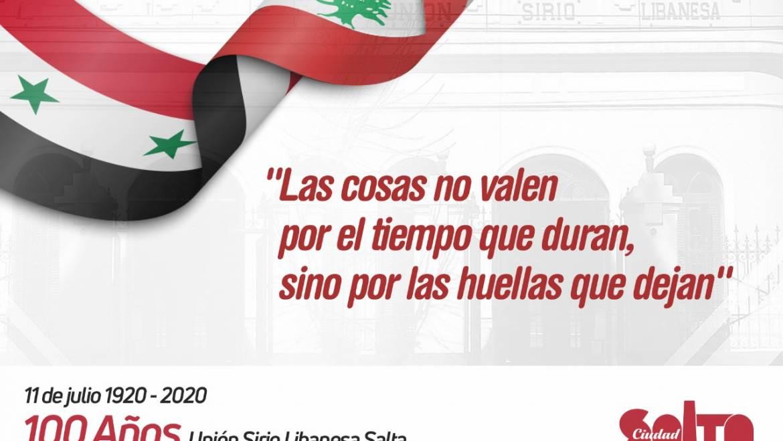 Salta Celebra : 100 años de la Unión Sirio Libanesa